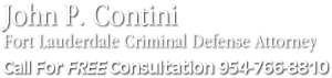 Ft. Lauderdale Criminal Defense Lawyer